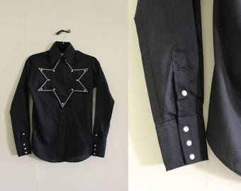 Vintage Star of Texas Blouse     Western Trends by Panhandle     Small     1970s