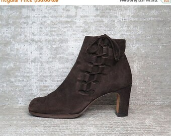 30OFF Vtg Brown Nubuck Leather Suede Laceup Boots