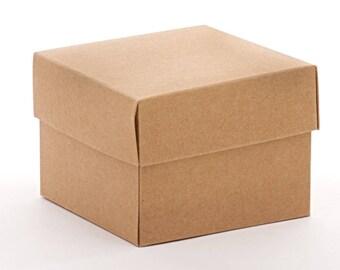 8 Large Square Kraft  Gift Boxes 8x8x3.5