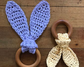 Set of 2 Handmade Natural Baby Teethers