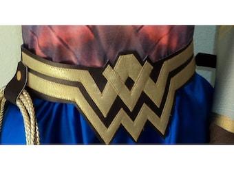 Wonder Woman Dawn of Justice  Belt  with loop  New version