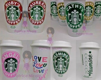 Personalized Starbucks Travel Cups