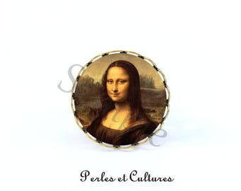 Ring the Mona Lisa - Mona Lisa cabochon
