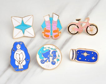 Galaxy Gal Pins (6 Pieces)