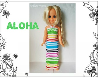 Vintage Ideal VELVET Doll Clothes - ALOHA Summer Dress - Handmade Custom Fashion - by dolls4emma
