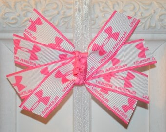 Pink Sports Hair Bow