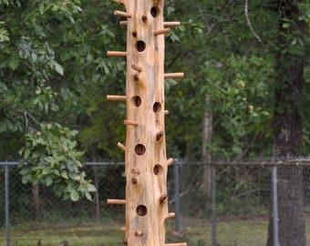 "Cedar log Suet bird feeder, 39"" long"