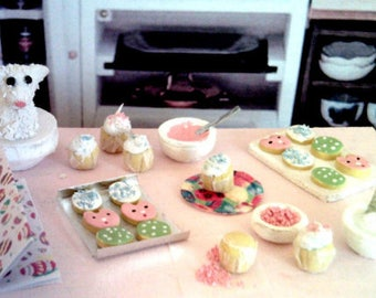 Dollhouse Miniature Easter Baking Set 2