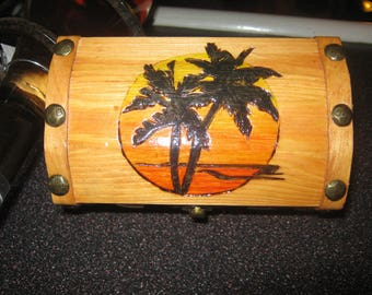 Palm Trees and Sunset Chest