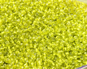 30 grams of 3mm yellow glass seed beads