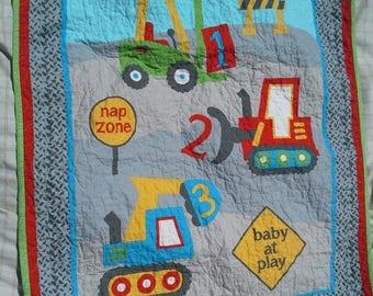 Sale Construction Baby Crib Bulldozer Nursery Bedding Vehicle Toddler Construction Boy Birthday Construction Vehicles Crib Toddler Cot Playm
