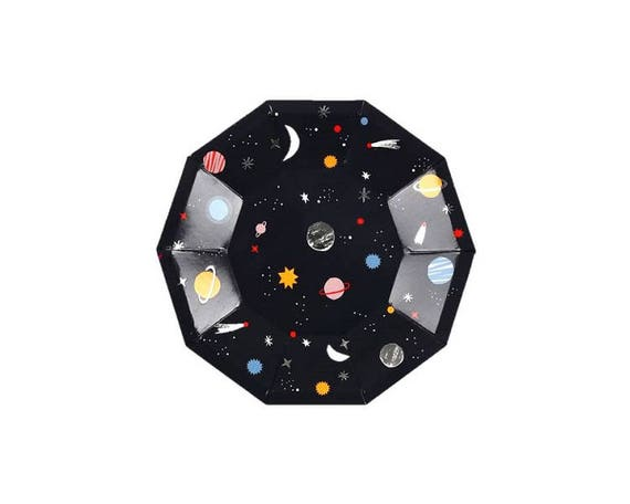 Il_570xn  sc 1 st  Catch My Party & Space Paper Plate Small Meri Meri Party Decor Party Supplies ...