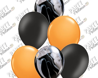 Halloween Balloon Pack with Black Marble Balloons