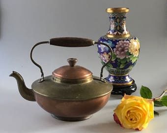 Antique Copper and Brass Teapot made in Holland