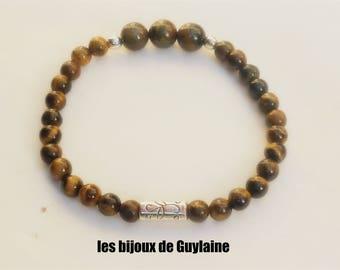 Mens Tiger eye stone bracelet