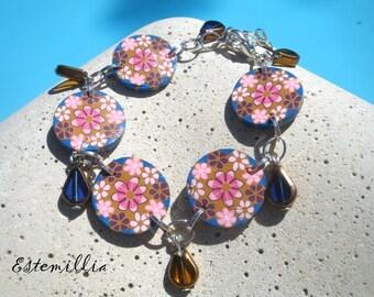 ESTEMILLIA floral polymer clay bracelet