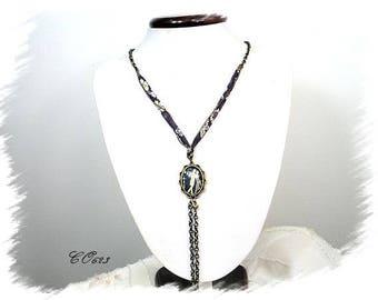 """long necklace romantic vintage """"Waltz"""" liberty * CO623 """""""""""