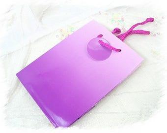 glossy neon purple gift bag
