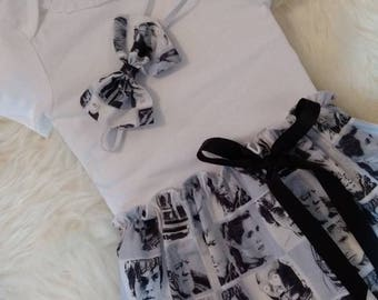 Star Wars Baby Dress with Matching Headband - Baby dress, Disney dress, Bodysuit dress, Baby gift, Photoshoot dress