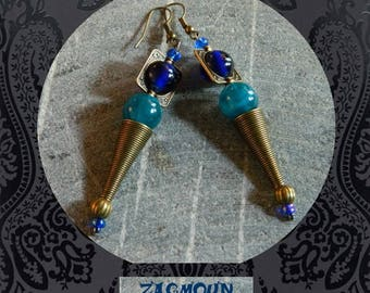 lovely pair of earrings original design unique zagmoun