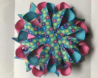 Colorful Party unfinished hair bow