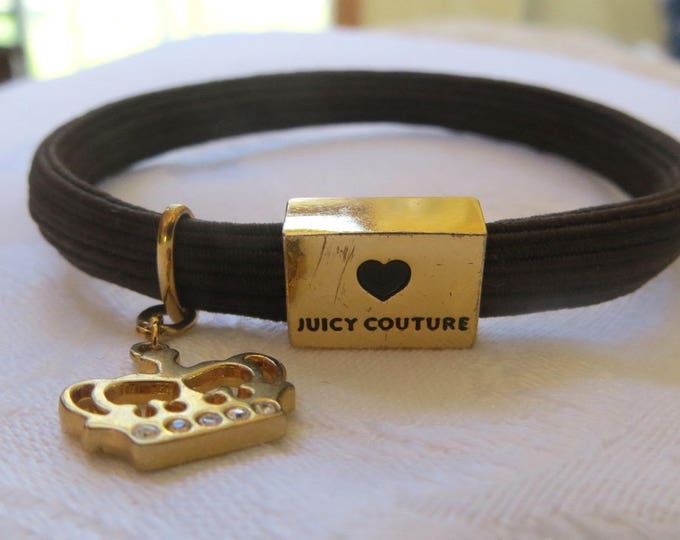 Juicy Couture Bracelet, Princess Crown Charm, Vintage Juicy Bracelet, Rhinestone Crown, 1990s Jewelry