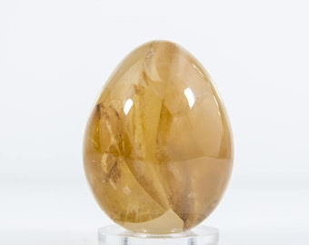 Yellow Quartz Hardstone Polished Egg