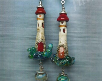 Lighthouse, Pendant Lighthouse, Sea jewelry