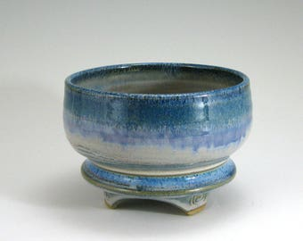 Matcha Tea Bowl, Serving Bowl, Teal hand-thrown stoneware bowl (#23)