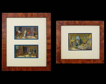 Set 3 Diderot 18th Century Occupations Engravings Framed