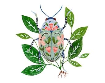 "Beetle 7 x7"" giclee print"
