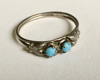 vintage faux turquoise ring, size 8.75