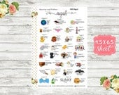 Celebrate August Planner Stickers - National Holiday Stickers - Special Days Stickers - Wacky Holiday Sticker - Holiday Planner Sticker WH08