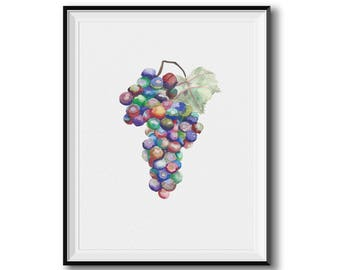 Watercolor Grape Giclee Print