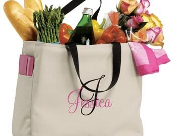 17 personalized monogram BRIDESMAID gift tote bag