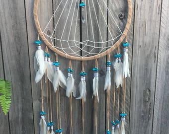 Flying dove  crystal dreamcatcher