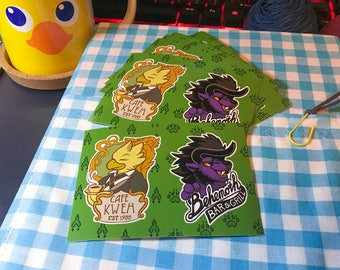 Final Fantasy Chocobo & Behemoth Sticker Sheet
