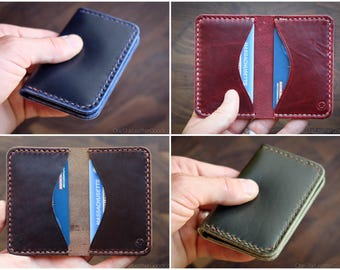 BUILD-YOUR-OWN - 2 or 3 Pocket Card Wallet