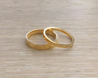 Gold Ring, Thin Gold Rings, Stack Rings, Dainty Rings, Thin Rings, Gold Band, 1 pc