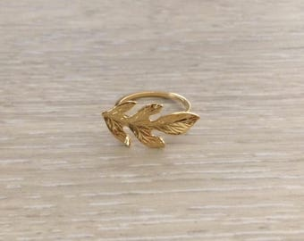Leaf Ring, Gold Ring, Stack Ring, Arrow Ring, Thin Ring, Knuckle Ring