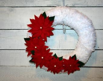 Christmas Wreath | Indoor Christmas Wreath | Holiday Wreath | Yarn Wrapped Wreath
