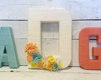 Monogram Yarn Wrapped Letters | Monogram Letters for Nursery | Monogram Letters
