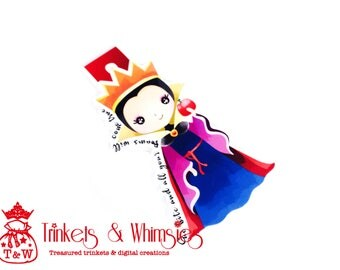 A Lil' Bit of Wicked - Snow White The Evil Queen Fan Art Magnetic Bookmark