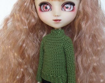Made to Order Crochet Sweater for Pullip dolls various colors available