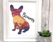 Polygon Pet Art Prints - Choose a breed and a name - Custom 8x10 Pet Art