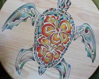 Reopening Sale! Original Artwork Gel Transfer Honu Turtle