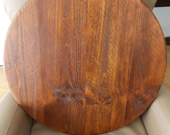 PINE LAZY SUSAN . Large 24 In. Turn Table . Handmade . Solid Wood .