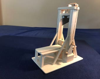 Guillotine made of wood