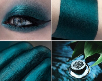 Eyeshadow: Hydra - Undead. Dusty dark green satin eyeshadow by SIGIL inspired.