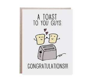 Funny Engagement Card, Funny Wedding Card, Funny Anniversary Card, Pun Card, Punny Card, Toast Card
